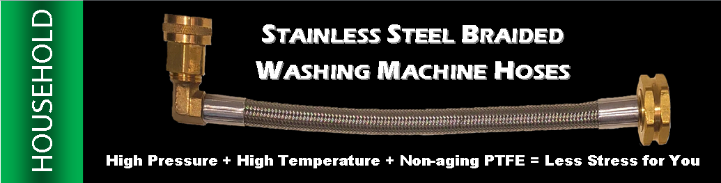 Stainless Steel Braided Washing Machine Hoses